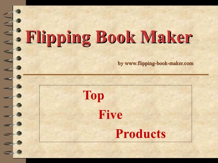 Flipping book maker