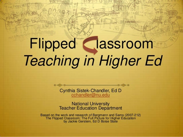 Flipping highered