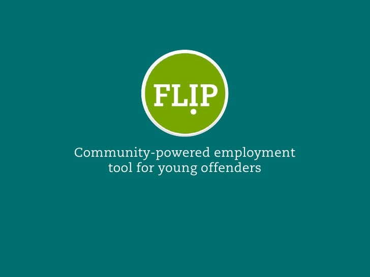 Community-powered employment    tool for young offenders
