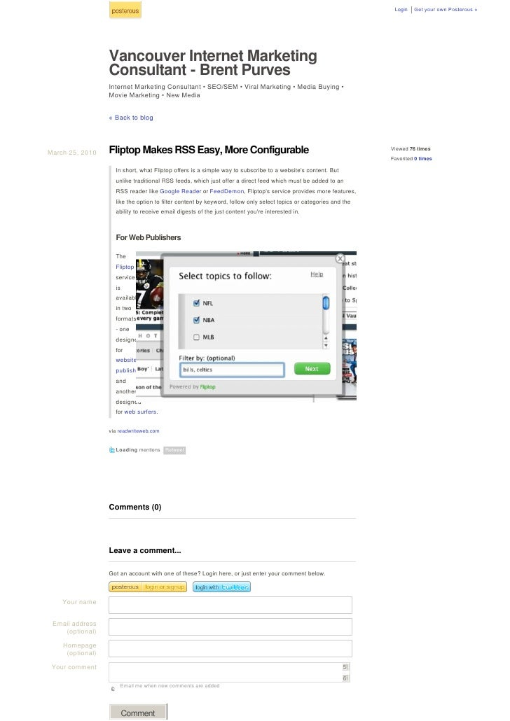 Login   GetyourownPosterous»                       Vancouver Internet Marketing                   Consultant - Brent P...