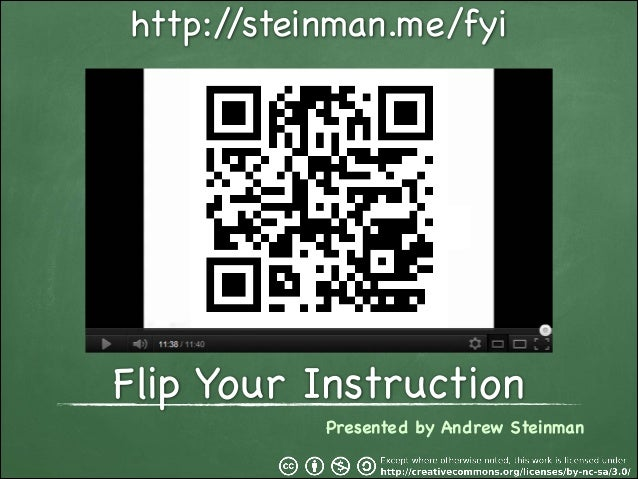 http:/ /steinman.me/fyi  Flip Your Instruction Presented by Andrew Steinman