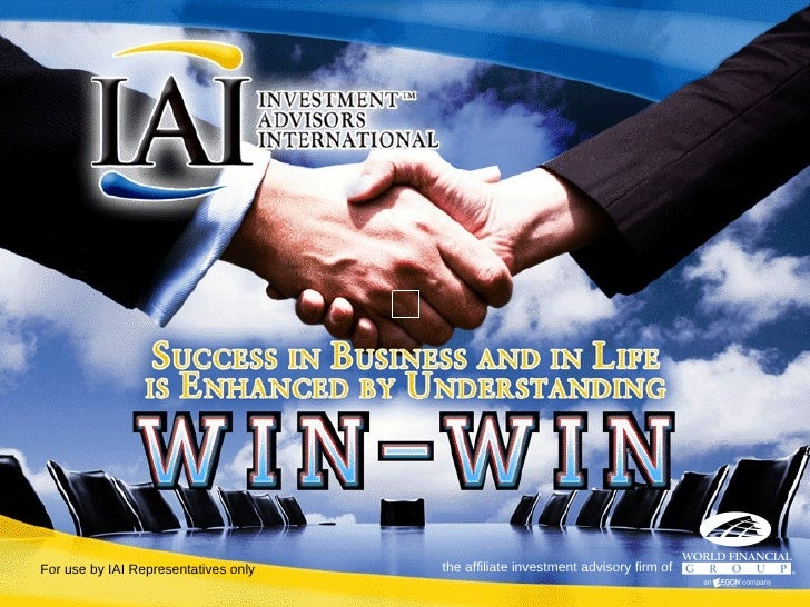 For use by IAI Representatives only the affiliate investment advisory firm of
