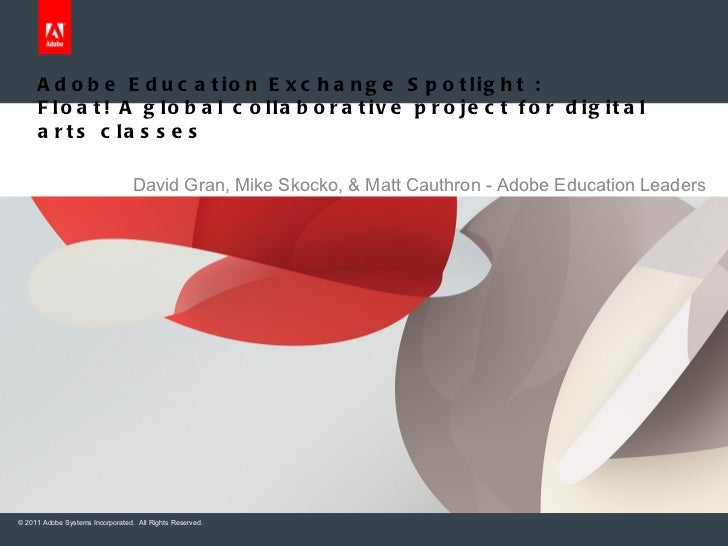 Adobe Education Exchange Spotlight :  Float! A global collaborative project for digital arts classes