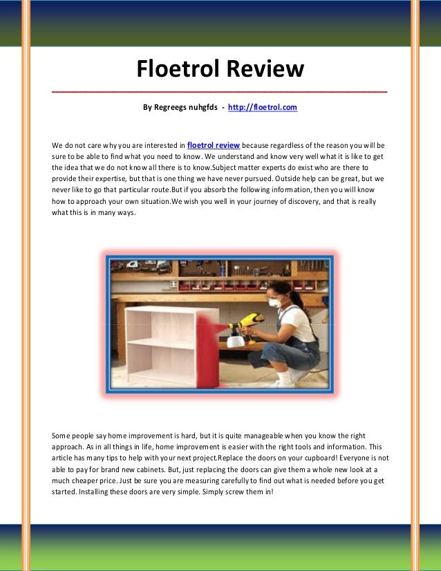 Floetrol review