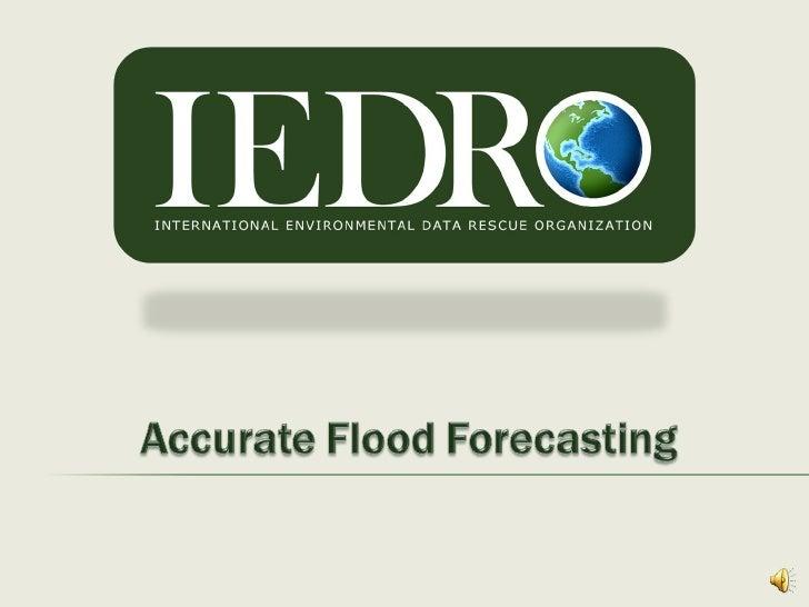 Flood Forecast High School With Narration