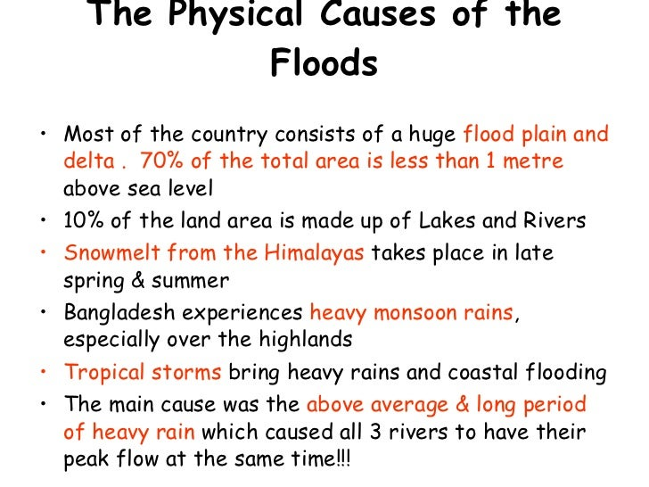 what causes flooding essay