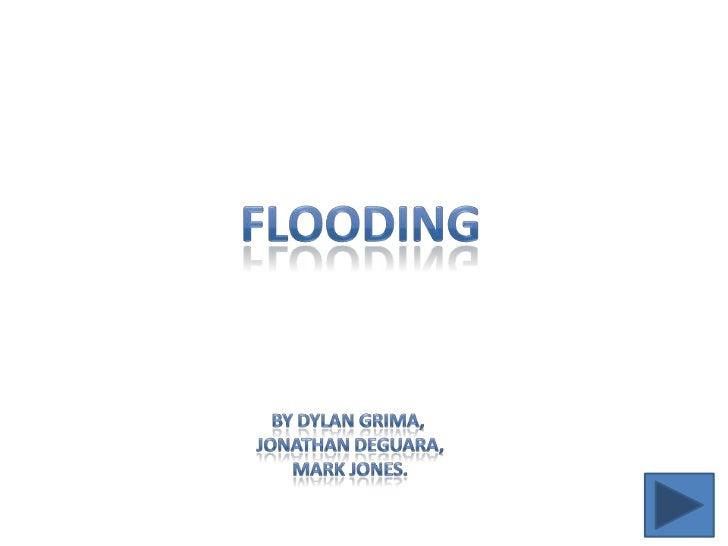 Flooding by Mark Jones, Jonathan Deguara, dylan grima, 4.03