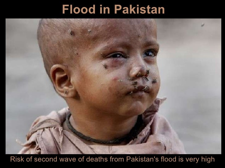 Risk of second wave of deaths from Pakistan's flood is very high