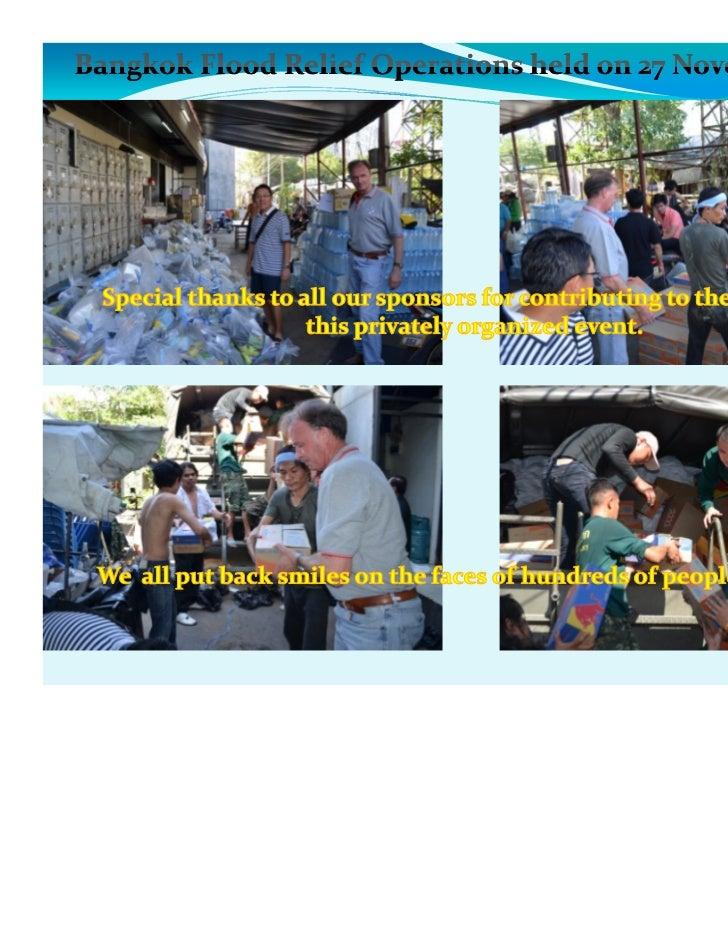 Flood relief ops @ 27 nov 2011