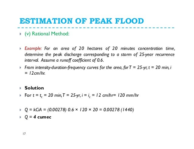 determining flood recurrence intervals and