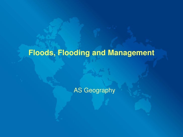 Floods, Flooding And Management