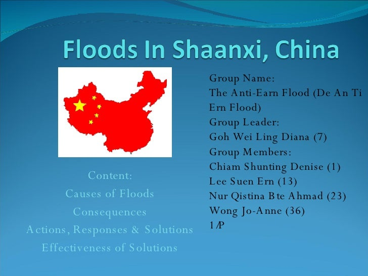 Floods In Shaanxi, China