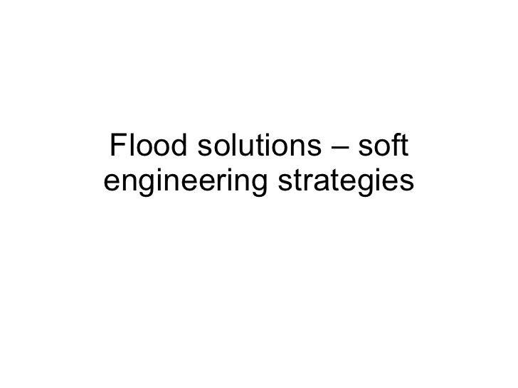 Flood Solutions – Soft Engineering Strategies