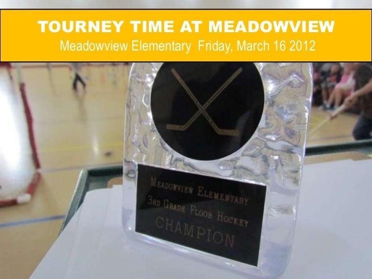 Meadowview Elementary Floor Hockey Tournament 2012