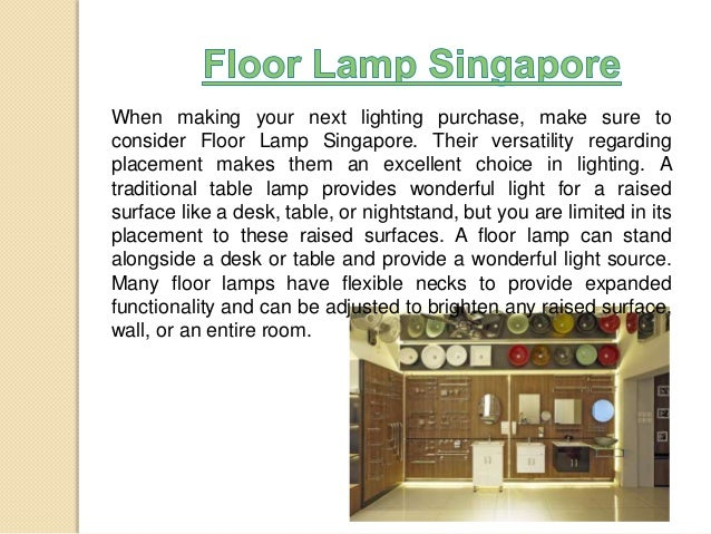 Singapore Lamp Shades Floor Lamp Singapore