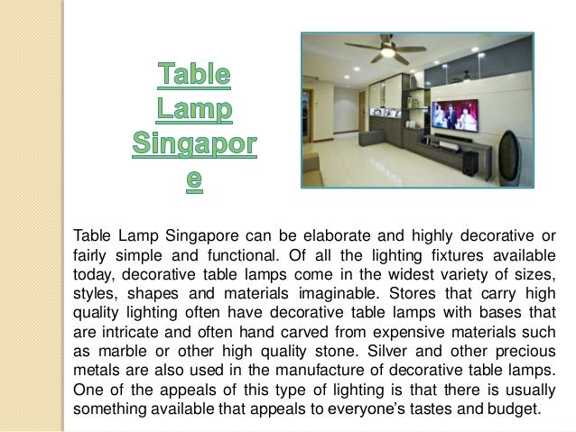 Singapore Lamp Shades Table Lamp Singapore Can be