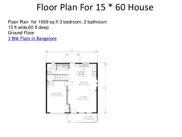 floor plan for 15 60 house