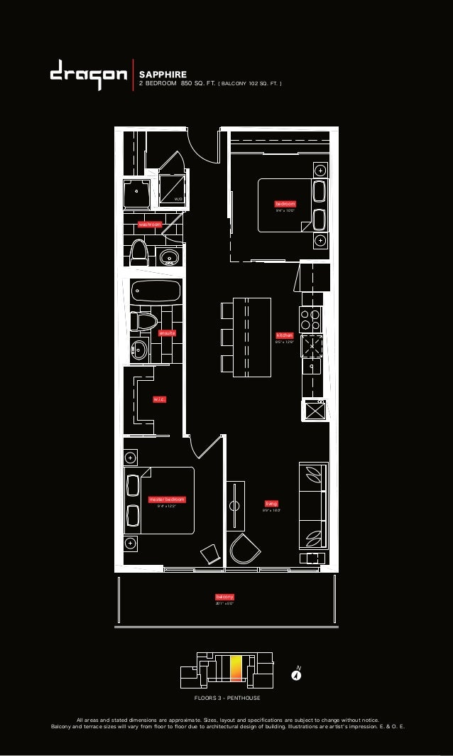 All areas and stated dimensions are approximate. Sizes, layout and specifications are subject to change without notice. Ba...