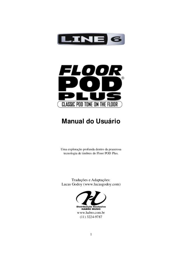 Manual do pedal Line 6 Floorpodplus (PORTUGUÊS)
