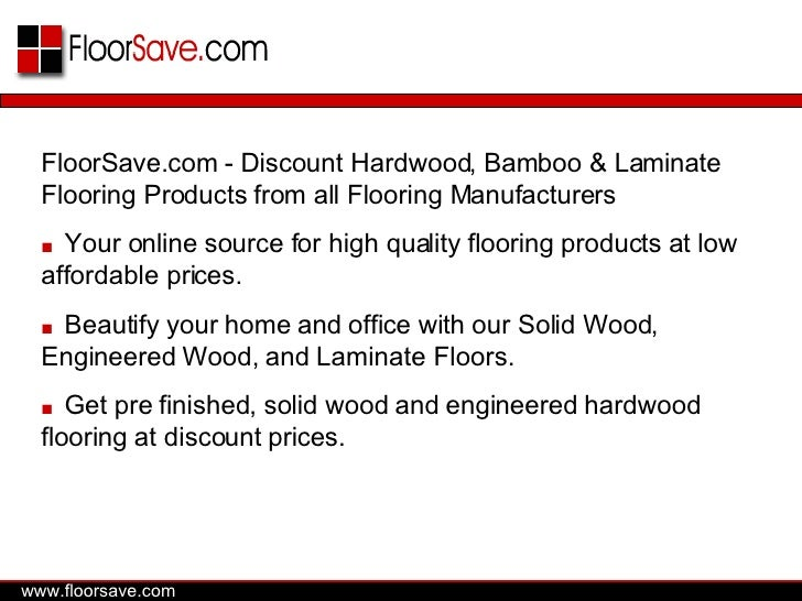 FloorSave.com - Discount Hardwood, Bamboo & Laminate Flooring Products from all Flooring Manufacturers ■   Your online sou...