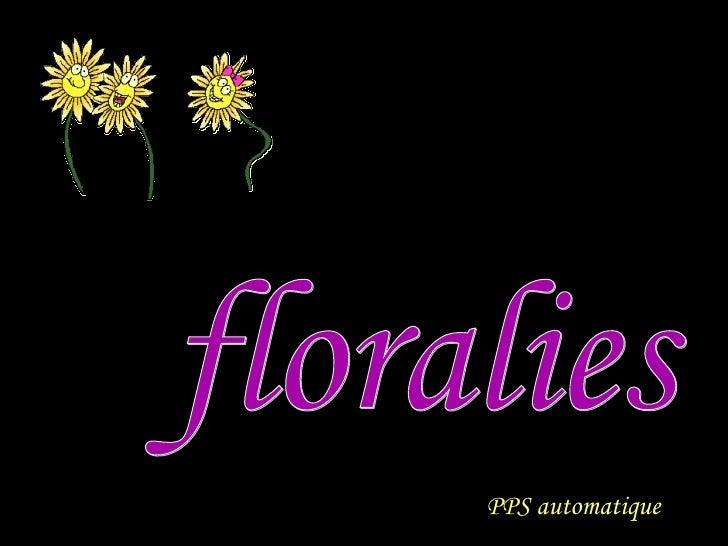 floralies PPS automatique PPS automatique