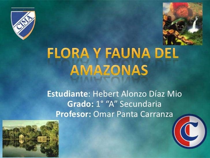 """Estudiante: Hebert Alonzo Díaz Mio     Grado: 1° """"A"""" Secundaria  Profesor: Omar Panta Carranza"""