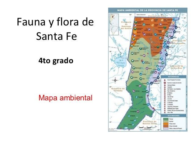 Fauna y flora de   Santa Fe    4to grado    Mapa ambiental