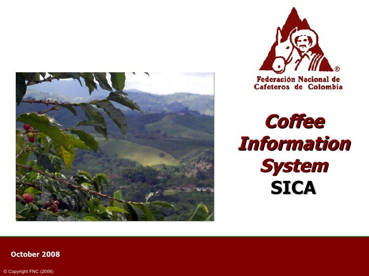 Coffee Information System SICA October 2008  © Copyright FNC (2006)