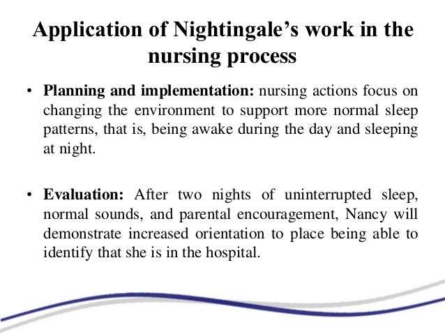 florence nightingales environmental theory reduce noise Is a historical review of the theories and science of noise and music in  relationship to patient  florence nightingale first identified the environment of  care  on the task of noise reduction have done so because there were.