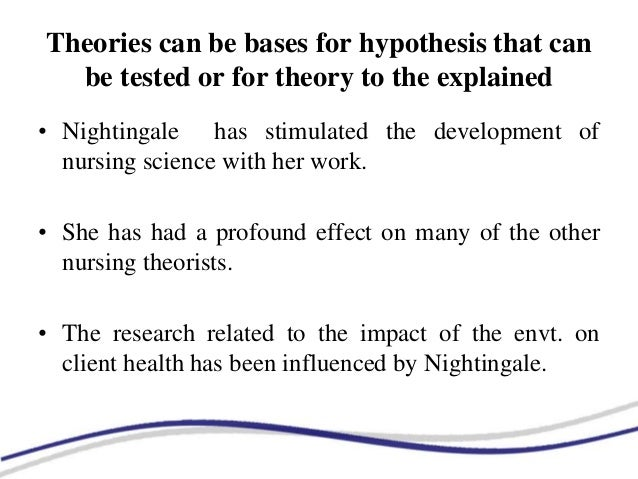 research paper on florence nightingale theory of