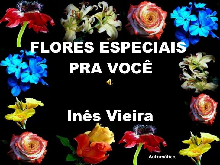 FLORES ESPECIAIS  PRA VOCÊ Automático Inês Vieira