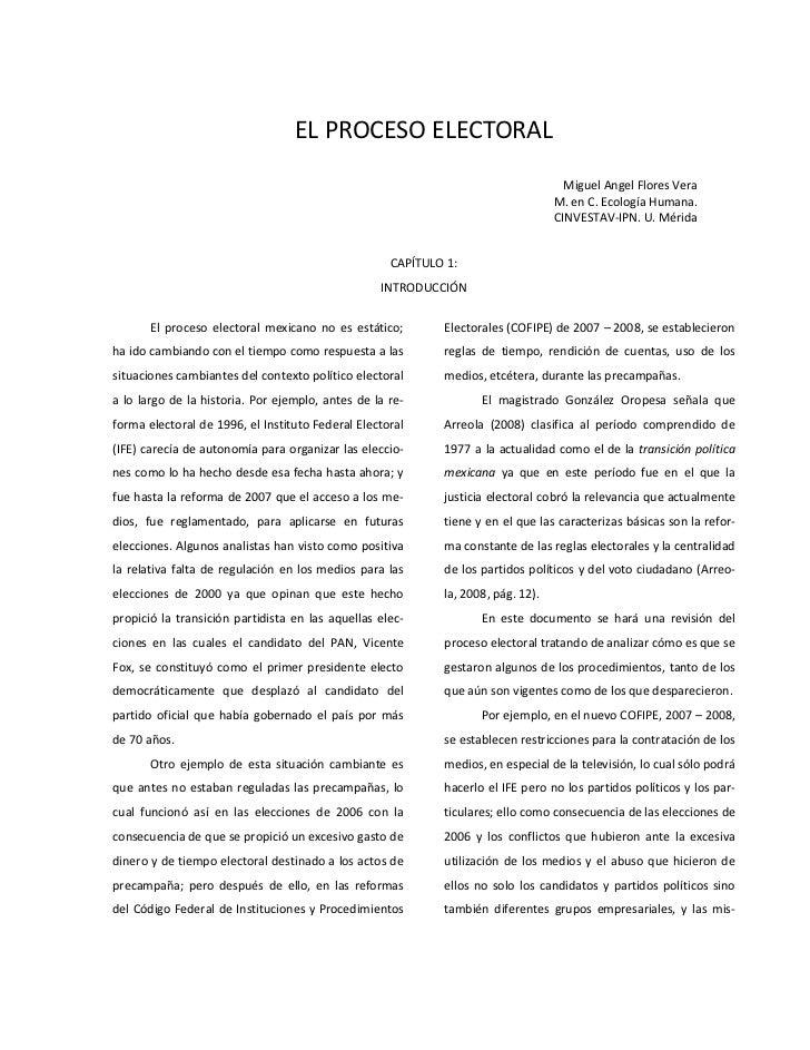 ELPROCESOELECTORAL                                                                                              Miguel...