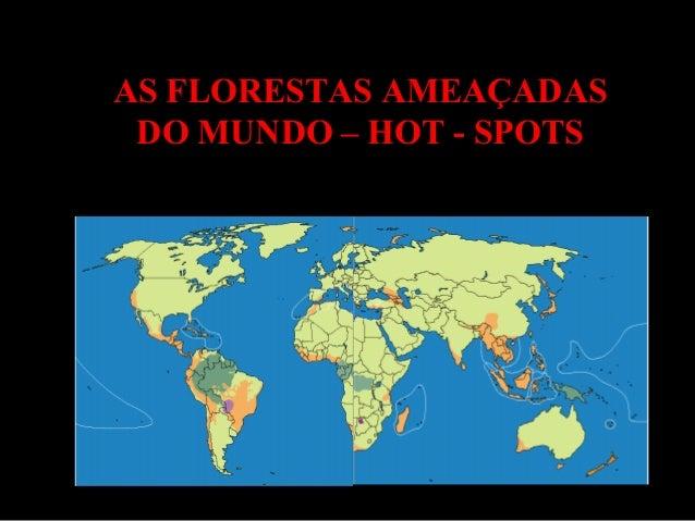 AS FLORESTAS AMEAÇADAS DO MUNDO – HOT - SPOTS