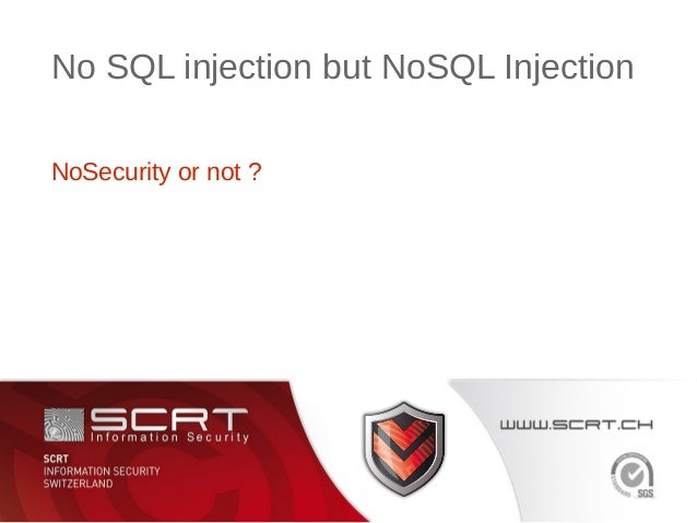 "StHack 2013 - Florian ""@agixid"" Gaultier No SQL injection but NoSQL injection"