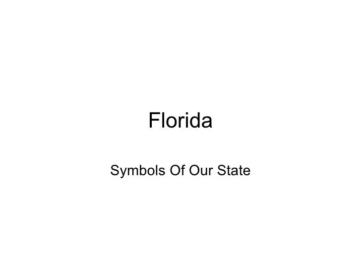 Florida Symbols Of Our State