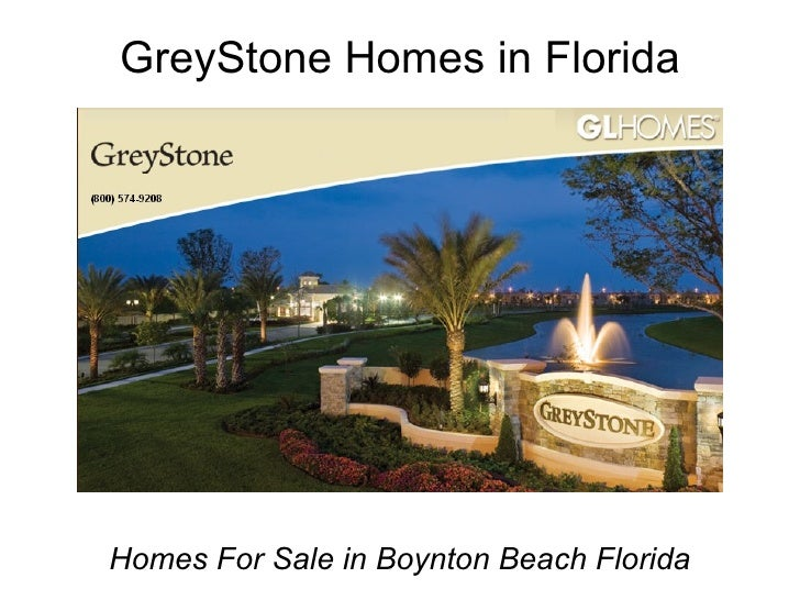 Florida Home Builder GL Homes - Greystone Homes for Sale Boynton Beach Florida