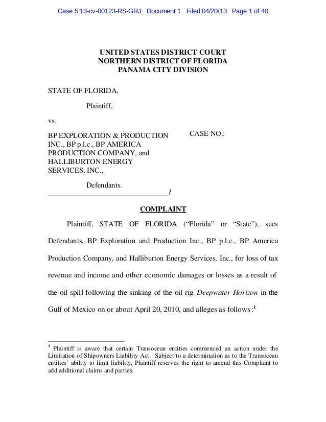 Florida bp complaint4-20-2013