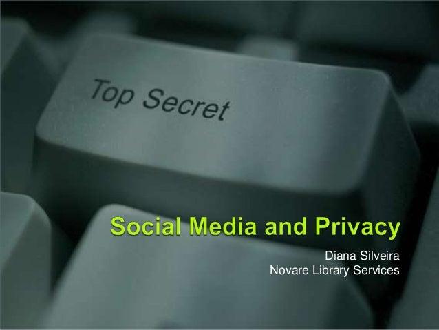 Social Media & Privacy (Nov 2012)