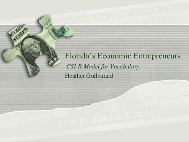 Florida's Economic Entrepreneurs: Grade 4