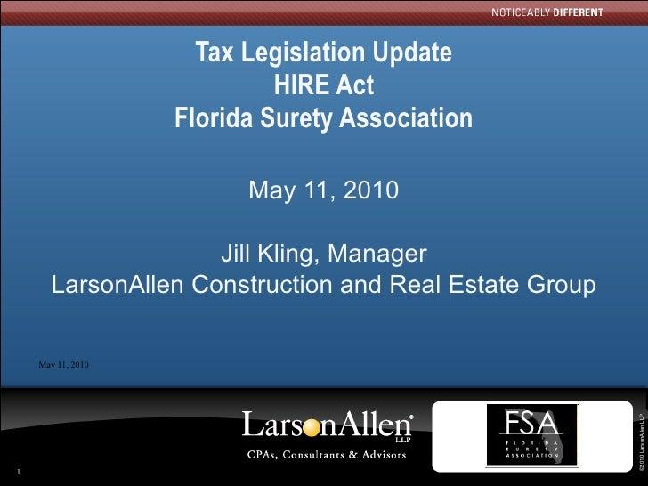 Florida surety assoc presentation 5-11-2010