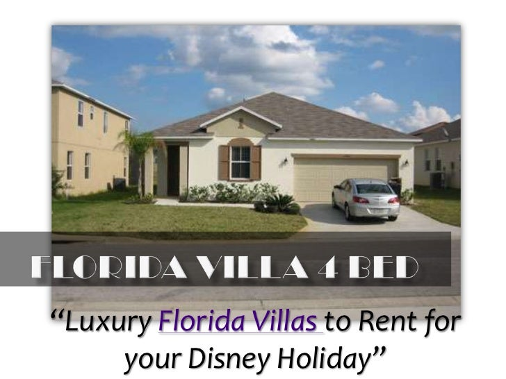 "Florida Villa 4 Bed<br />""Luxury Florida Villas to Rent for your Disney Holiday""<br />"