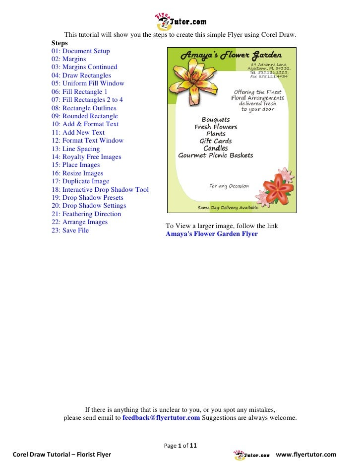 This tutorial will show you the steps to create this simple Flyer using Corel Draw.              Steps              01: Do...