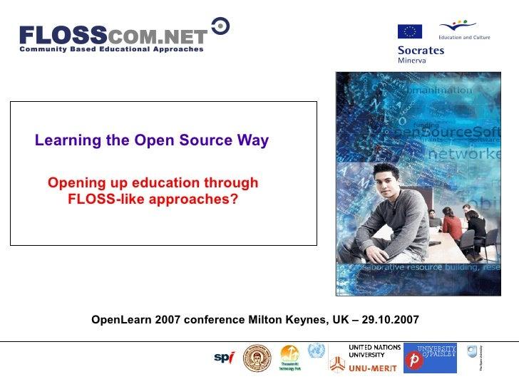Floss Com: Floss / Open Source Like Learning Models