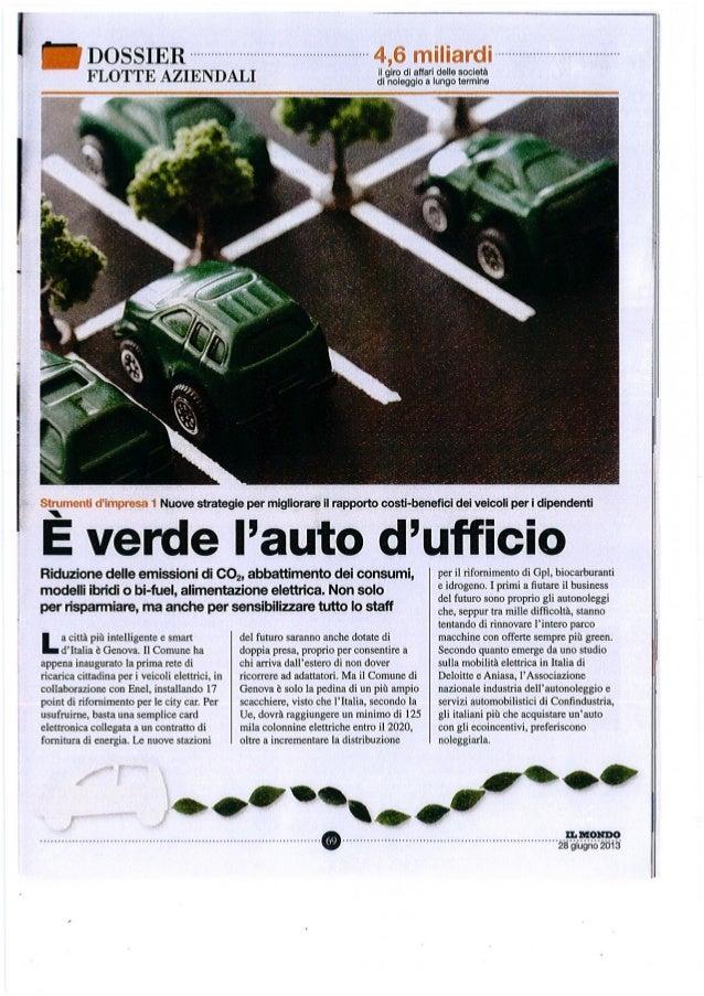 Dossier Flotte Auto - Il mondo - Car sharing e mobilità sostenibile