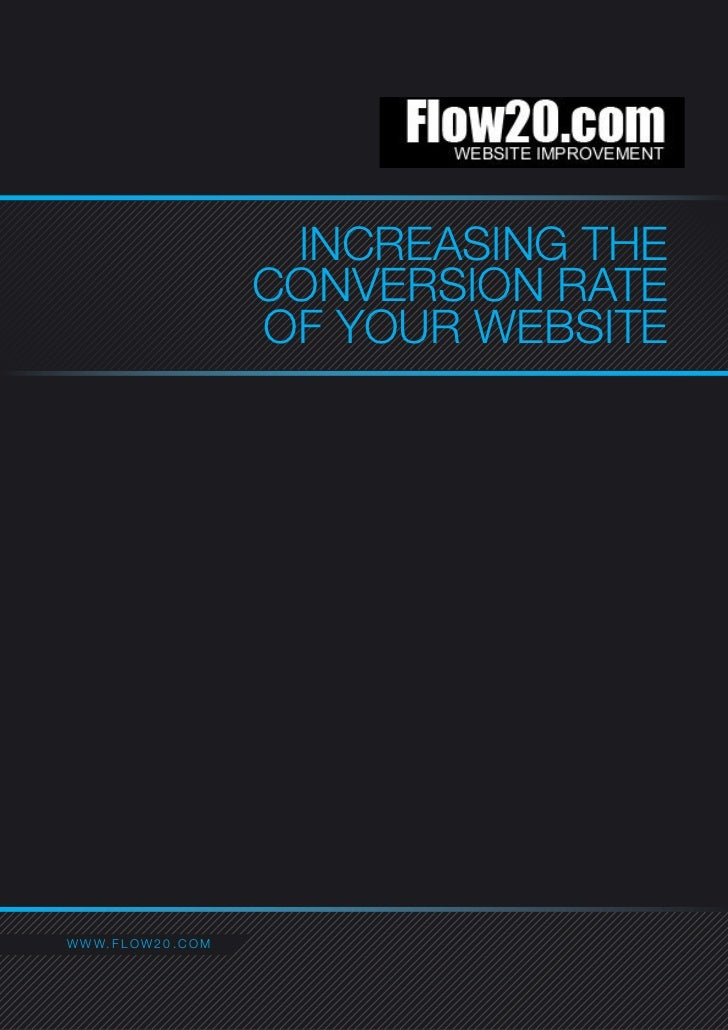 INCREASING THE                                  CONVERSION RATE                                  OF YOUR WEBSITEC O NW A C...