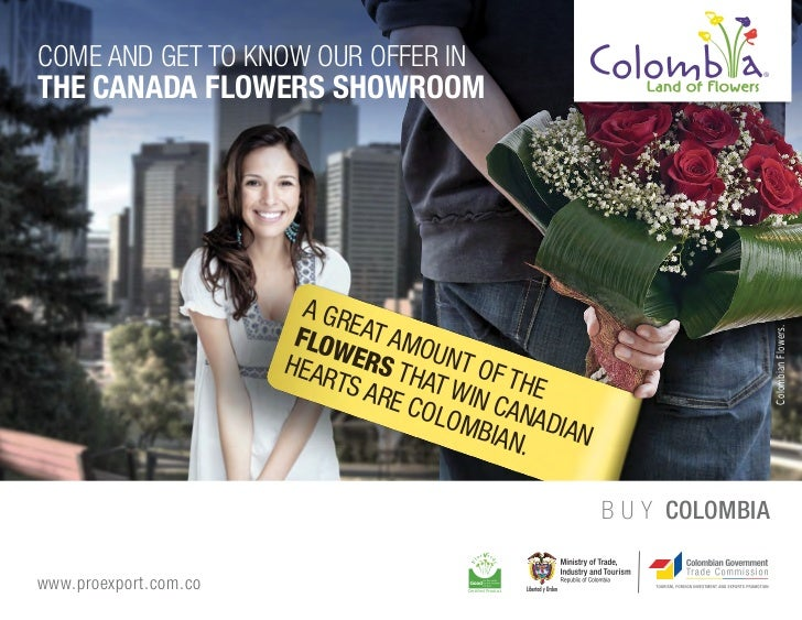 COME AND GET TO KNOW OUR OFFER INTHE CANADA FLOWERS SHOWROOM                         A GR                        FLOW EAT ...