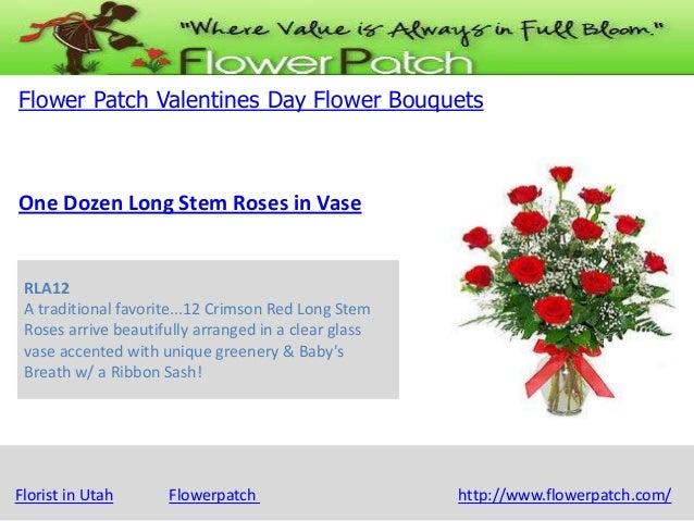 inf@sonoranhillsdental.com | T 489.785.9191 Flower Patch Valentines Day Flower Bouquets  One Dozen Long Stem Roses in Vase...