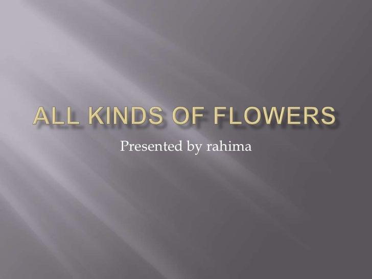 Presented by rahima