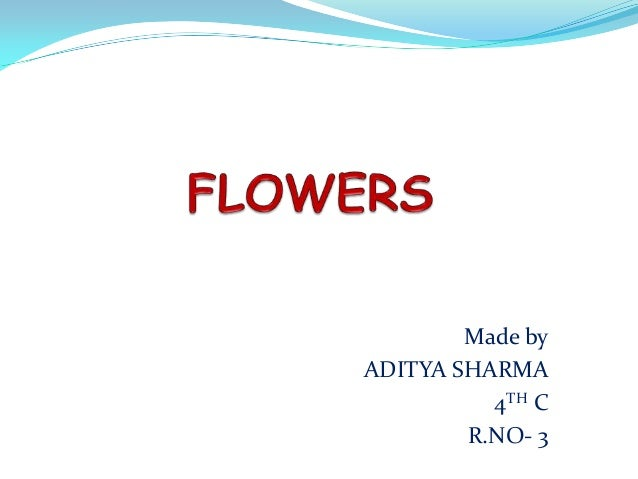 Made byADITYA SHARMA          4TH C        R.NO- 3