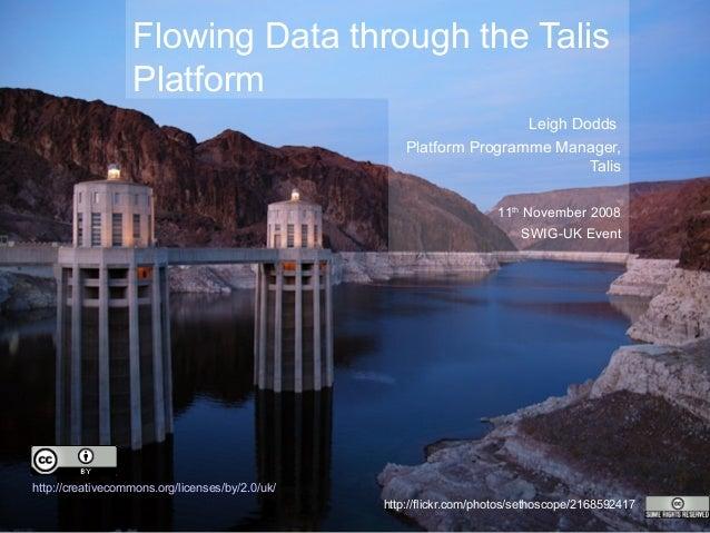 Flowing Data through the Talis Platform